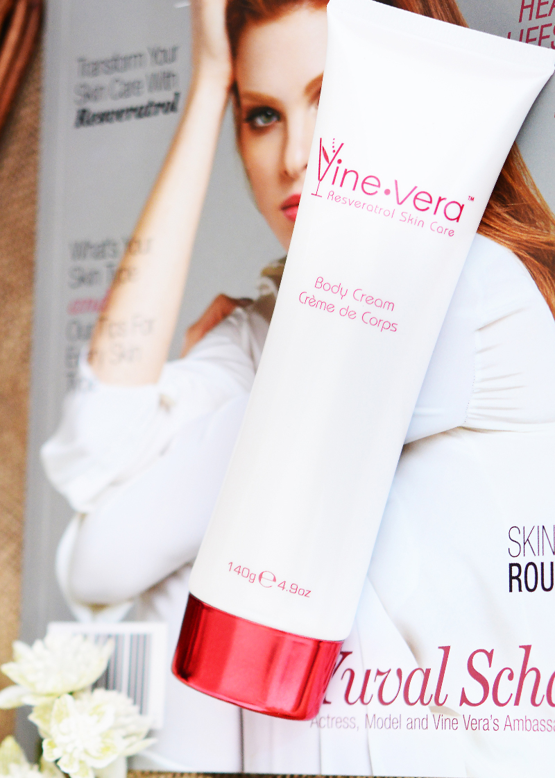 body cream with magazine background