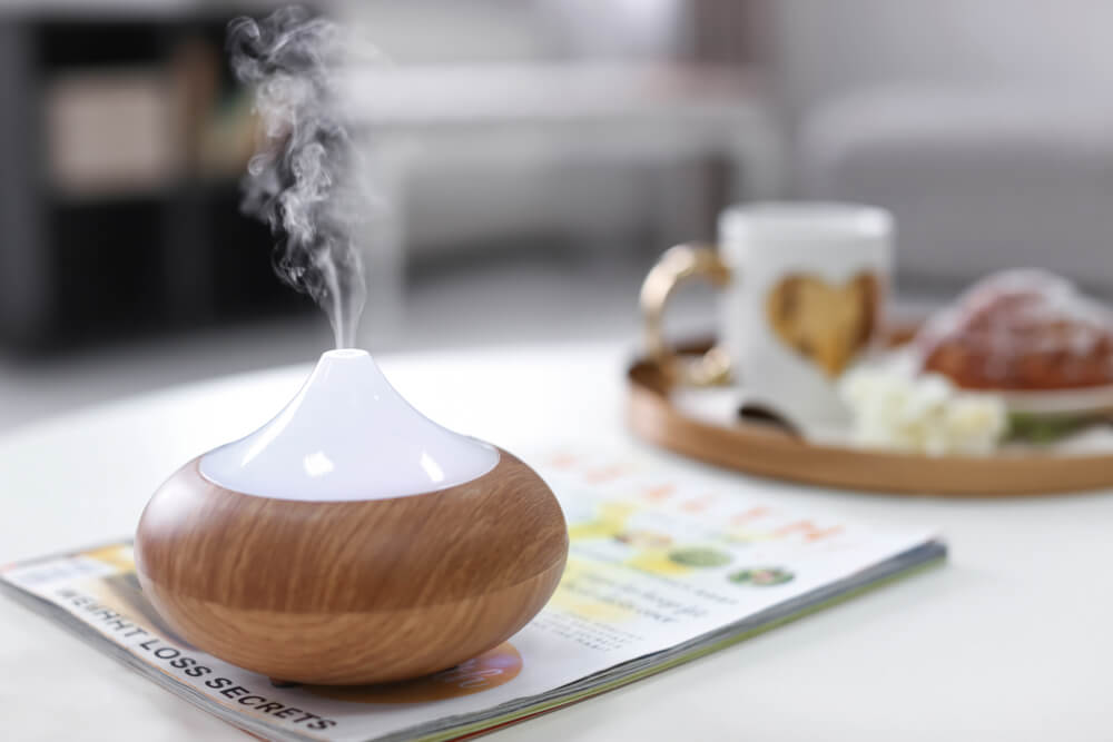 Elegant humidifier on table