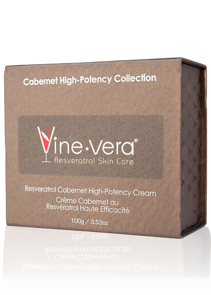 cabernet High-Potency Cream in it's case