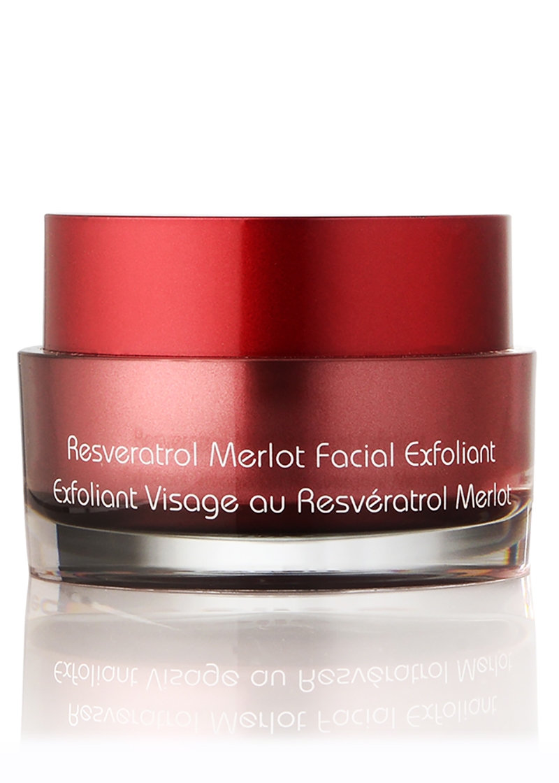 back view of Merlot Facial Exfoliant