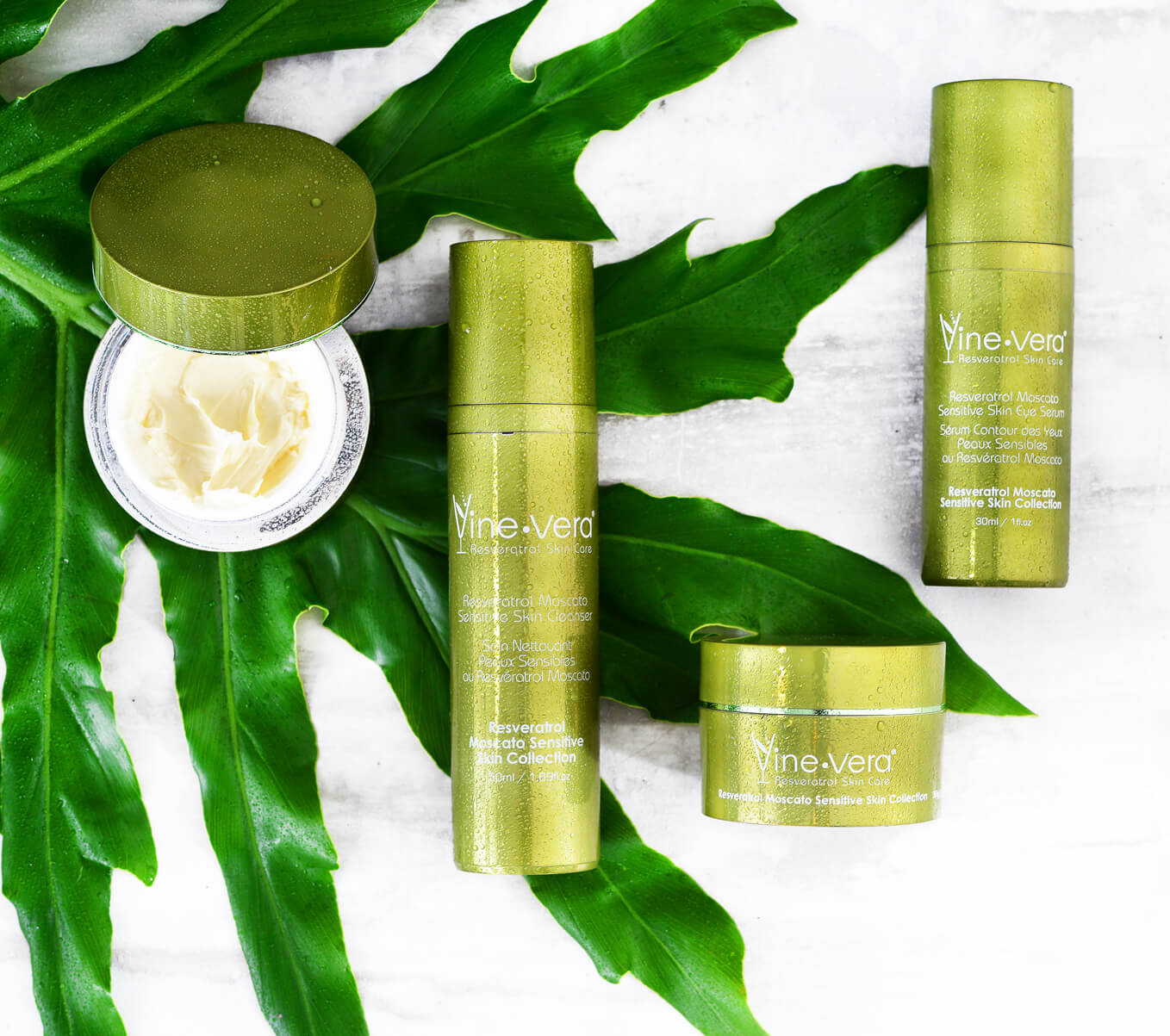 Moscato Resveratrol Sensitive Skin Collection Vine Vera