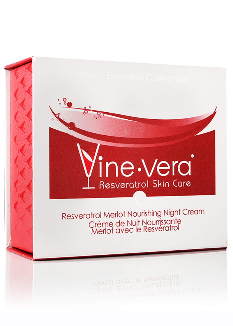 Resveratrol Nourishing Night Cream in its case