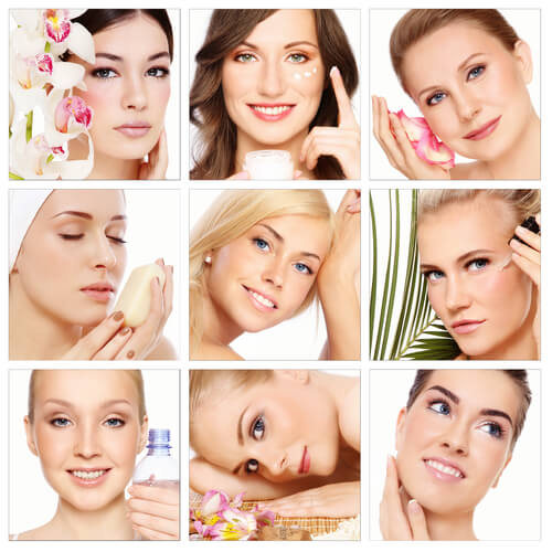 Collage of 9 different women