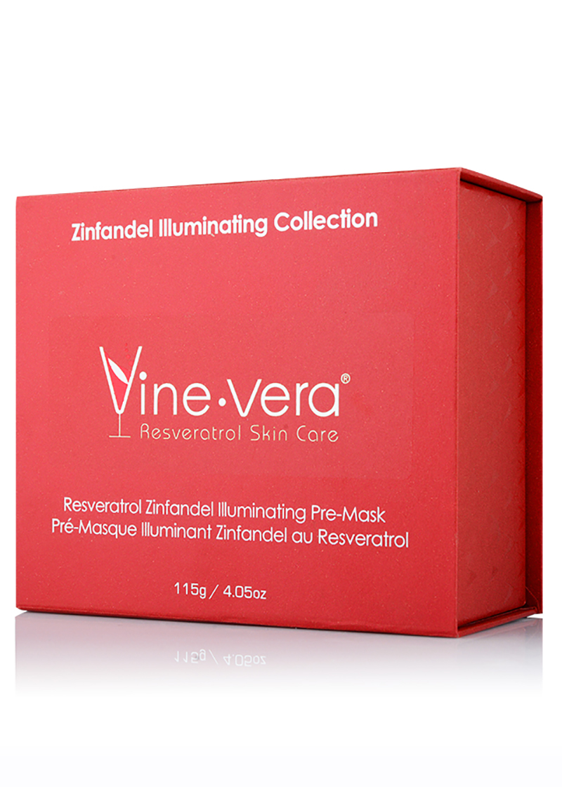 Vine Vera Zinfandel Illuminating Pre Mask in it's case